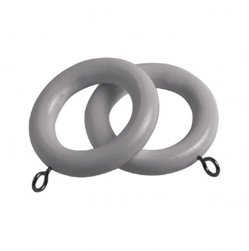 Speedy County 28mm Wooden Curtain Rings (Pack of 4) - Light Grey